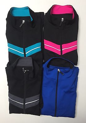 Be Inspired Ladies Zipper Front Long Sleeve Active Wear Top Jacket S M L Xl Nwt