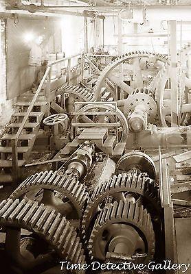 Powered Marine (Gearing System, Steam-Powered Marine Railway, New London, CT - Steampunk Photo)