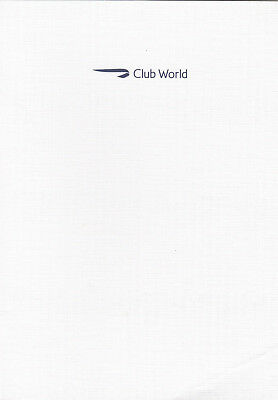 (05622) British Airways BA Club World Menu Sept 2017 London / Las Vegas on Lookza