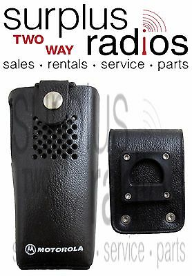 New Motorola HLN9009A Leather Holster w/ Swivel and D-Rings for GP300. Buy it now for 29.95
