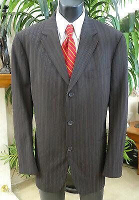Hugo Boss Suit 46L Classy Brown Pinstripe