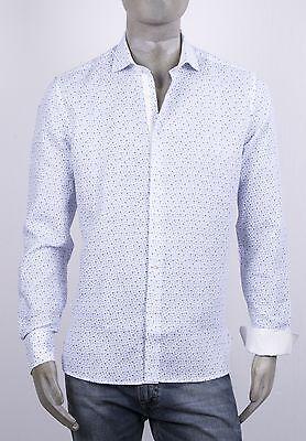 Drucken Regular Fit Hemd (Hemd Al Mailand mit Druck Blumen Klein 100% Leinen Regular Fit mit Intarsien)