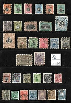 (57600) PERU CLASSIC STAMPS 1917/1924 NICE SELECTION USED UNUSED