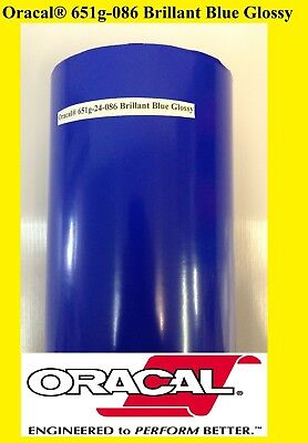 12 X 10 Ft Brillant Blue Glossy Oracal 651 Vinyl Adhesive Plotter Sign 086