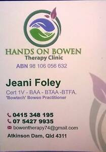 Hands on Bowen Therapy Clinic Lockyer Valley Preview