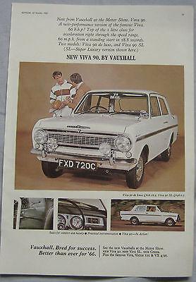 1965 Vauxhall Viva 90 Original advert No.1