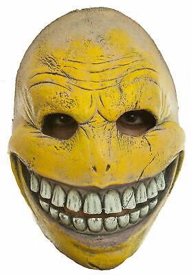 Creepy Smiley Face Half Mask Latex Adult Emoji Halloween Costume Accessory](Smiley Mask Halloween)