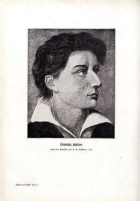 Herman Waldeck Friedrich Schiller u.d. Mannheimer Hoftheater A.W.Tischbein 1909