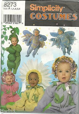 SIMPLICITY #8273 COSTUMES FOR TODDLERS FAIRY PEAS DAISY BRAND NEW & UNCUT 1998