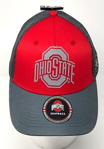 Ohio State Buckeyes Snapback Mesh back Hat Red-Gray FREE Shipping OSB7