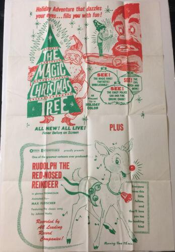 MAGIC CHRISTMAS TREE/RUDOLPH THE REDNOSE REINDEER! ORIGINAL U.S. OS FILM POSTER!