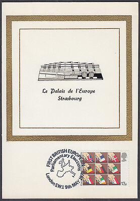 1979 Direct European Elections 13p scarce Historic Relics Maximum Card 'FDC'