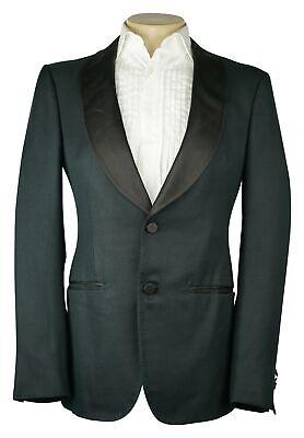 NWT Ermenegildo Zegna Dark Blue Green Tuxedo Shawl Jacket 100% Silk NEW Size 38