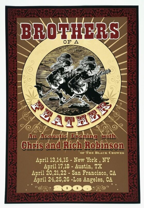 """Brothers of a Feather original concert poster 2006 Tour Mint condition 15"""" × 22"""""""
