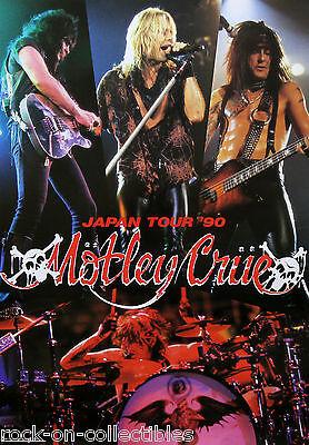 Motley Crue 1990 Dr. Feelgood Japan Tour Promo Poster Nikki Sixx Tommy Lee Rare