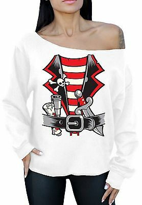 PIRATE HALLOWEEN COSTUME Off The Shoulder Oversized Sweatshirt Party Gift - Pirate Halloween Party Ideas