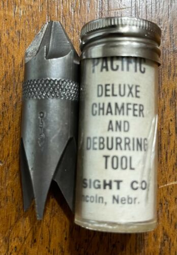 PACIFIC DEBURRING CHAMFERING TOOL RELOADING LIKE RCBS LEE .17-.45 EXCELLENT!