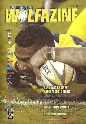 Warrington v Huddersfield - Super League - 2003