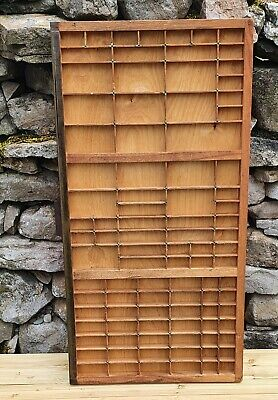 Vintage Printers Wooden Type Tray for Letterpress Letters