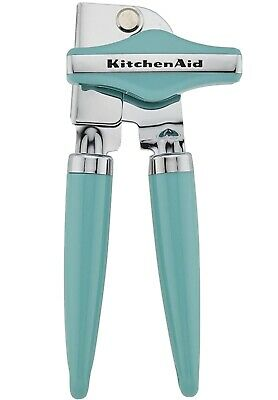 KitchenAid Manual Can Opener with High Carbon Stainless Steel Blade, Aqua Sky