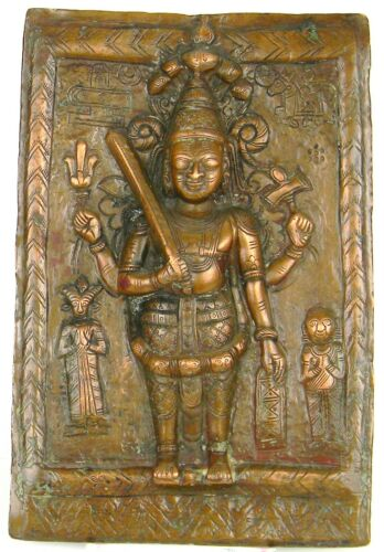 ANTIQUE BRASS, DOOR PANEL, TIBETAN