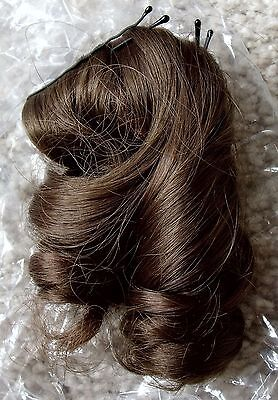 NIP Vintage Dollspart Dynel Size 4 Style Alice Light Brown Doll Wig