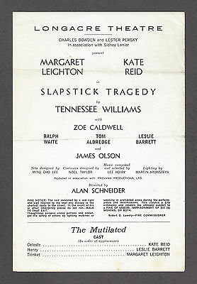 "Tennessee Williams ""SLAPSTICK TRAGEDY"" Zoe Caldwell 1966 FLOP Preview Playbill"