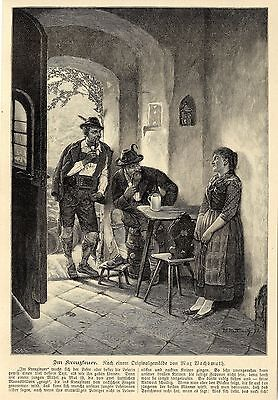 Max Wachsmuth ( Was sich liebt das neckt sich ) Graphik um 1900