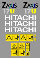 Hitachi Zaxis 17u Mini Escavatore Decalcomania Set - hitachi - ebay.it