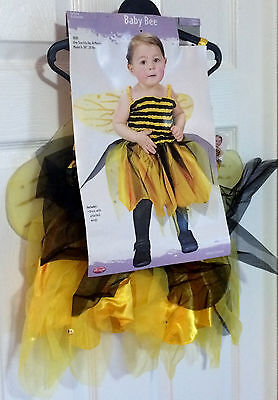 Darling Baby Bee Yellow & Black Winged Costume - 20b - 30