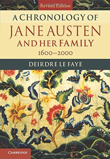 A Chronology of Jane Austen and her Family NEW BOOK