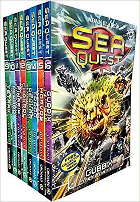 Sea Quest Series 3 and 4 Collection Adam Blade 8 Books Set (Tetrax, Nephro, F... (Sea Quest Adam Blade)