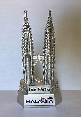 Petronas Twin Towers Kuala Lumpur Malaysia Souvenir Model Statue & Can Opener