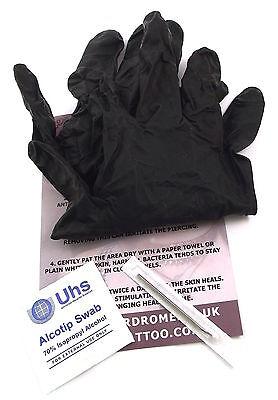 Stérile Base Lame Aiguille Piercing de Corps Kit - Choisissez Perçage/Bijoux UK ()