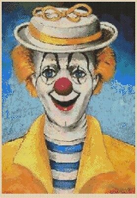 Happy Clown Counted Cross Stitch Chart  No. 3-1