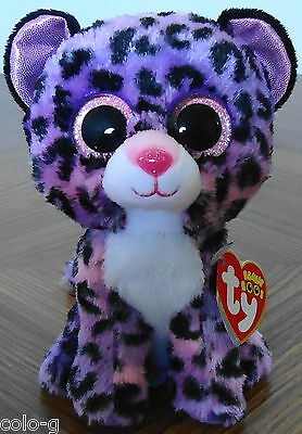 "Ty Beanie Boos Jewel the Leopard 6"" Justice Exclusive MWMT"