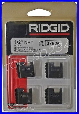 12 12r Npt Ridgid 37825 Alloy Pipe Threading Dies Set 4 Usa Made