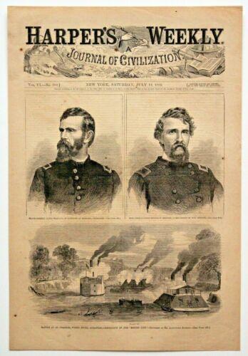 "1862 ""WHITE RIVER ARKANSAS-MOUND CITY EXPLOSION"" Civil War Antique Original rare"