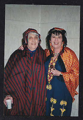 Vintage Photograph Two Women Wearing Crazy Costumes For Halloween