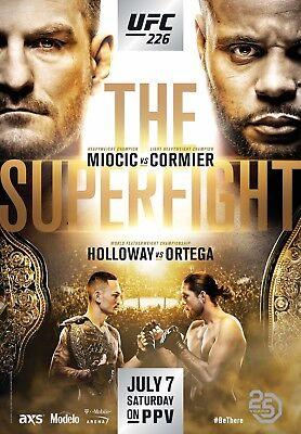 UFC 226 Fight Poster (24x36) - Miocic vs Cormier, Holloway vs Ortega for sale  Cincinnati