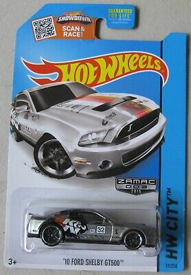 Hot Wheels 2015 HW City ZAMAC #3 '10 FORD SHELBY GT500 Mustang 11/250