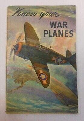 """Vintage Coca Cola 1943 """"Know Your War Planesl"""" Booklet"""