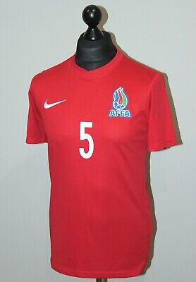 Azerbaijan U-21 National Team home match worn football shirt 2021 #5 Nike Size M image