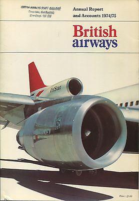 BRITISH AIRWAYS ANNUAL REPORT & ACCOUNTS 1974/75 CREW PICS BA