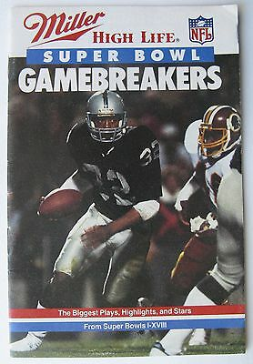 Miller High Life Super Bowl Gamebreakers 1984 Nfl Football Booklet  Marcus Allen