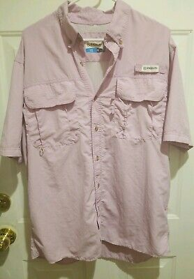 - Magellan FISH GEAR Vented Stain Resistant Relaxed Short Sleeve Shirt M Purple