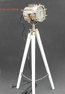 hollywood vintage search light floor lamp studio lights wooden tripod