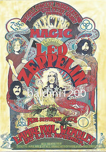LED-ZEPPELIN-HIGH-QUALITY-VINTAGE-CONCERT-POSTER-LOOKS-AWESOME-FRAMED