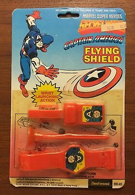 Rare Marvel Superheroes Secret Wars Captain America Flying Shield