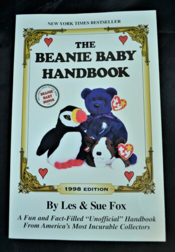 TY The Beanie Baby,Handbook, 1998 Edition, Les Sue Fox, Collectible Toys Book